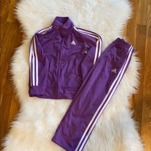 Girls size 6 track suit by Adidas